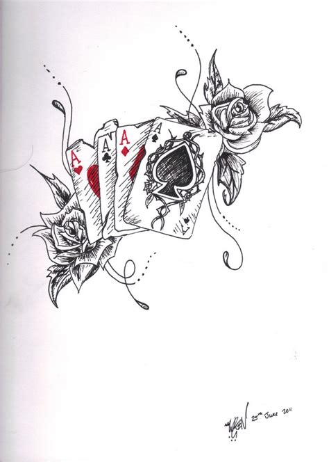 card tattoo design ace design by toiger on deviantart