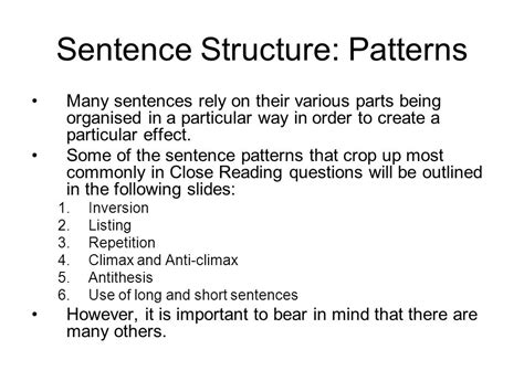 sentence pattern english grammar ppt sentence structure patterns ppt download