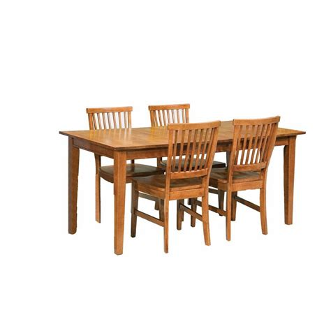 Arts And Crafts Dining Room Set Home Styles Arts And Crafts 5 Cottage Oak Dining Set 5180 318 The Home Depot
