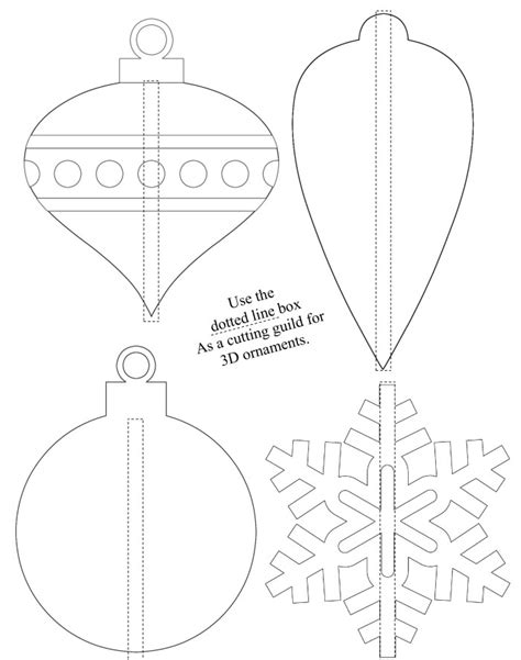 shrinky dink printable templates 3d shrinky dink ornaments free printable