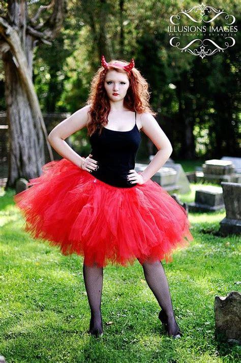 adult tutu devil costume red tutu woman