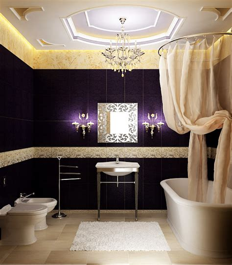 Upscale Bathroom Fixtures Luxury Bathroom With Posh Lighting Fixtures Decoist