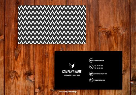 chevron business card template free black and white chevron business card template