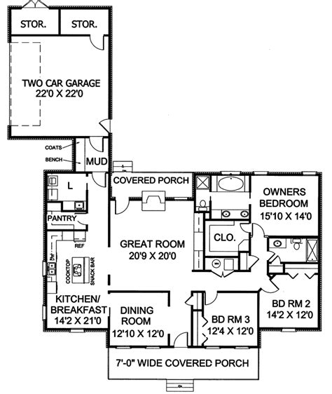 Southern Style Home Floor Plans | gilcrest southern style home plan 028d 0010 house plans