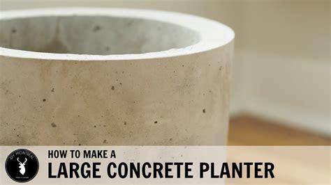 how to make a concrete diy concrete planter large diydry co
