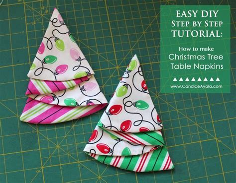 christmas tree table napkins pattern easy diy christmas tree table napkins by candiceayala