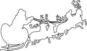 Reindeer Silhouette Outline by Search Results For Santa In Sleigh Outlines Calendar 2015