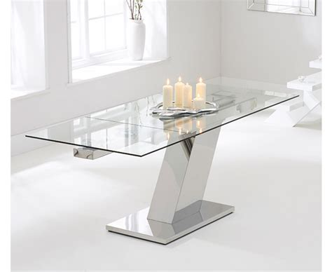 glass extending dining table 140cm extending glass dining table the great