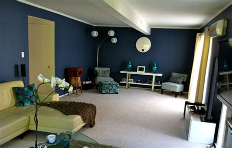 dark blue paint living room ideas for decorating living room with blue color ideas