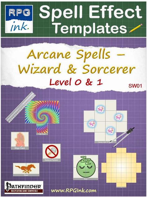 templates and wizards arcane spell effect templates sw01 wizard sorcerer