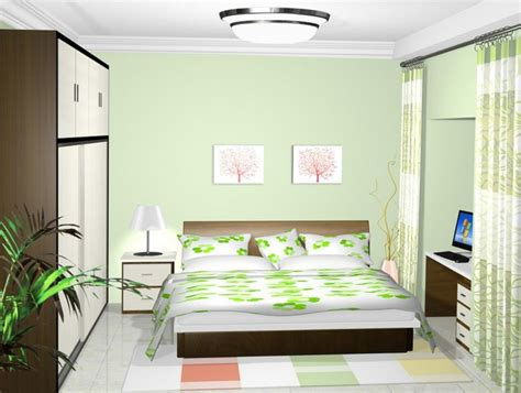 Light Green Bedrooms Pale Green Bedroom Walls Interior Design