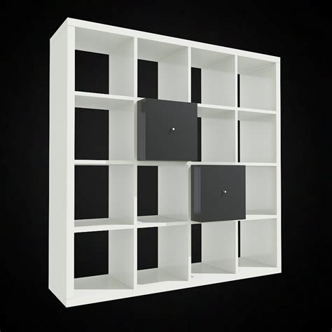 Ikea Bookcases Expedit Ikea Expedit Bookcase 3d Model Famous Models For 3d