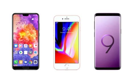 huawei p20 pro vs iphone 8 vs samsung galaxy s9 price in india specifications features