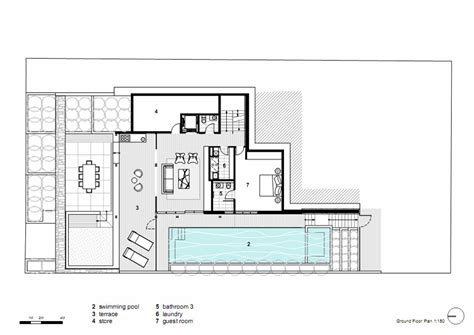 contemporary floor plans homes ground floor plan vaucluse house in sydney australia by