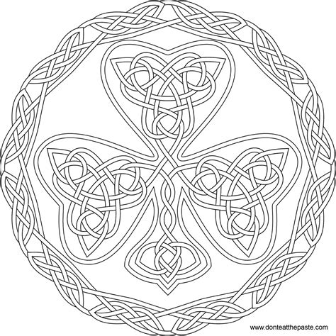 rainbow mandala coloring pages don t eat the paste simple shamrock and rainbow mandala to