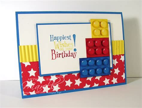 Lego Birthday Cards Marelle Taylor Stin Up Demonstrator Sydney Australia