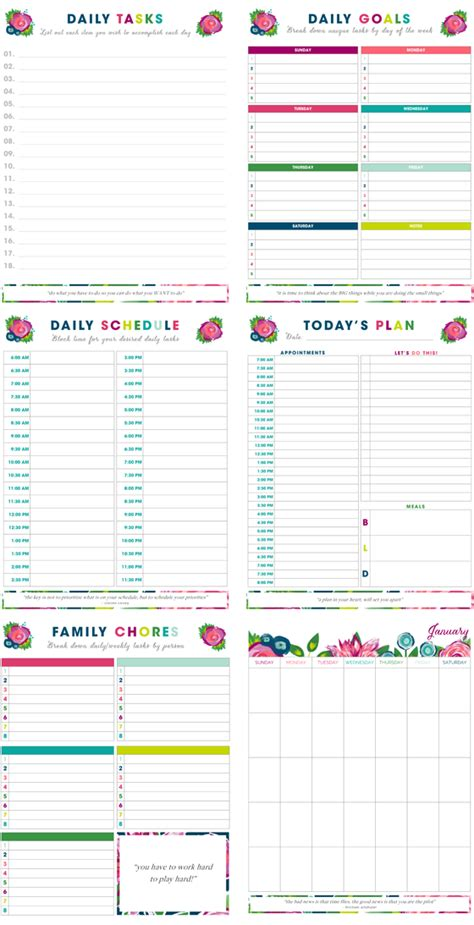 printable organization quiz for students 20 printables to help organize your life little house
