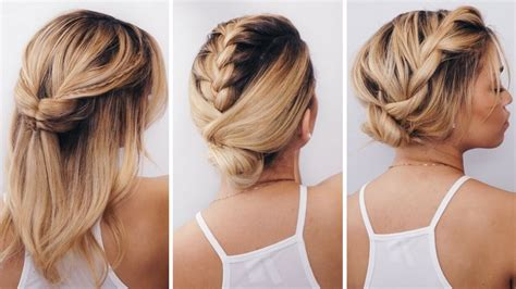 hot to do an upsweep on shoulder length hair hair crochet braid updo hairstyle for medium long hair