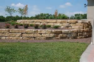 tiered 14 quot ledgerock limestone retaining walls landscape
