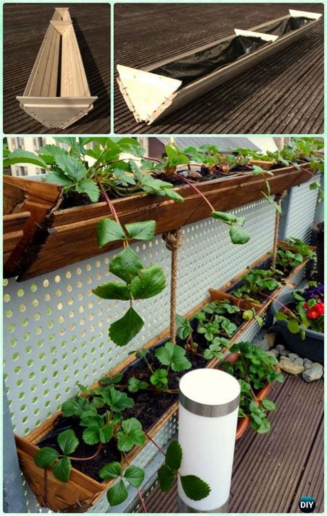 How To Make A Hanging Planter Box by Great Ways To Grow Strawberries In Containers