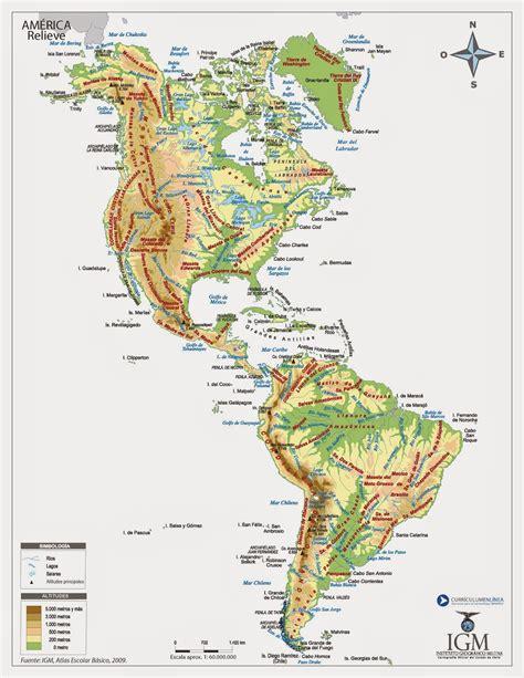 accidentes geograficos de america mapa de accidentes costeros de america
