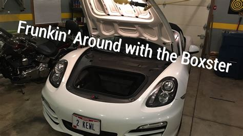 porsche trunk in front porsche boxster front trunk what s in there youtube