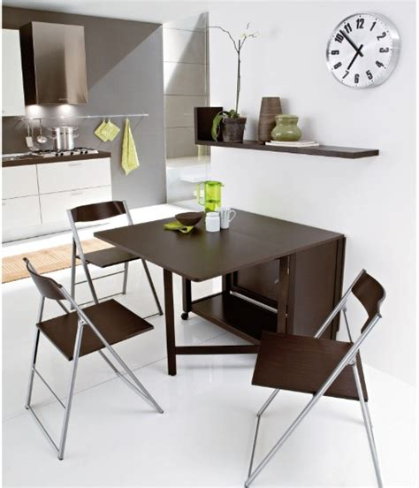 Dining Table And Chairs For Small Spaces Wood Drop Leaf Dining Table Ideas For Small Spaces With Unique Chairs Decolover Net
