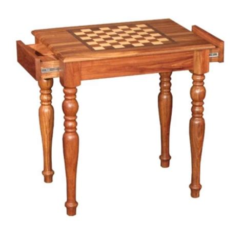 chess table with drawers solid rarewood chess table with drawers somerset