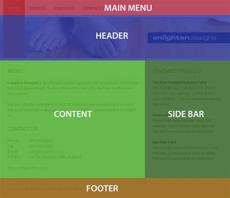 web page layout design with css cs334