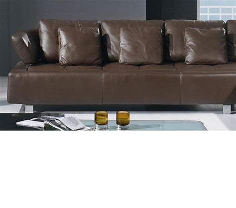 Modern Brown Leather Sofa Dreamfurniture Bo 3878 Contemporary Brown Leather Sectional Sofa