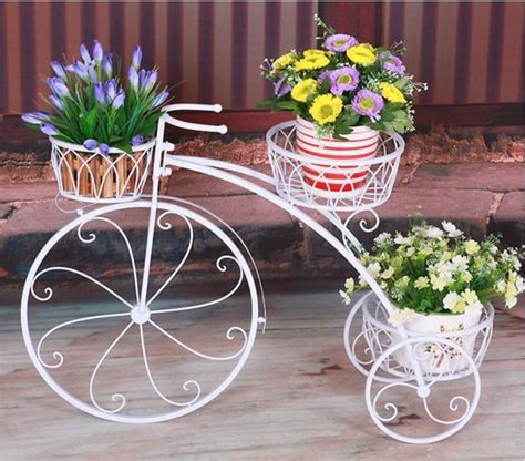 Provincial Planters by Home Garden Decor Indoor Outdoor Metal Bike Bicycle