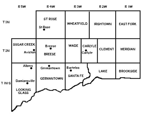 Clinton County Il Court Records Clinton Co Il Map