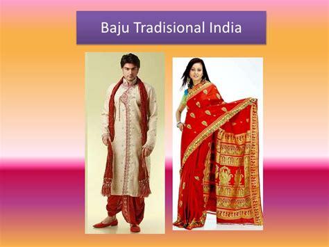 Dress Tradisional India Abu Abu pakaian