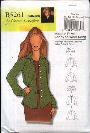 Raglan Cony 14 Raglan butterick sewing pattern 5261 womens plus size 18w 44w