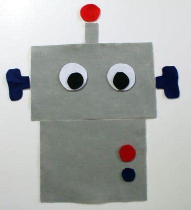 felt robot pattern diy bag robot tote craftbits com