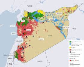 Syria On Map by Syria Conflict Map