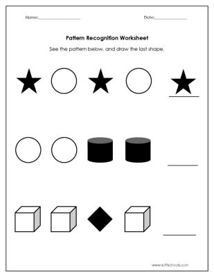 pattern recognition numbers and figures pattern recognition test for kindergarten 1000 images