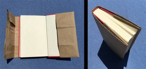 Paper Cover - how to make a paper bag book cover with step by step