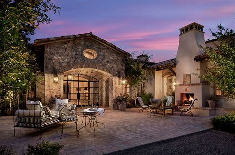 French Mediterranean Homes | french country estate mediterranean patio phoenix