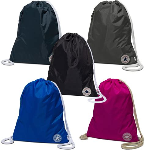 Converse All Navy Grey Black converse all ss17 drawstring bag black grey