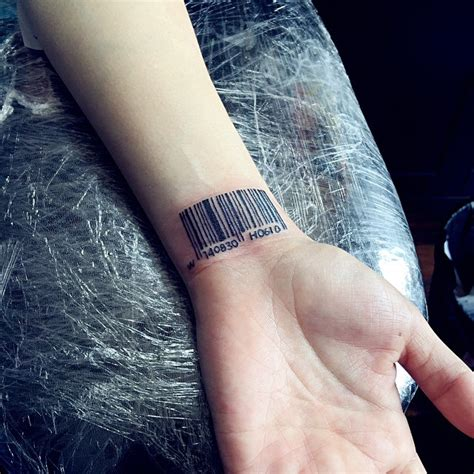 barcode tattoos on wrist 25 graphic barcode meanings placement ideas 2018