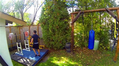 homemade crossfit style backyard workout setup gopro