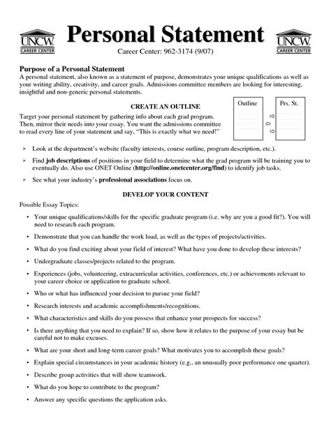 resumes personal statements 28 images resume personal