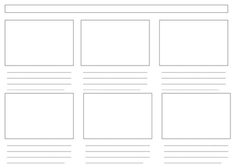Blank Storyboard Template by Blank Storyboard Template Ict Storyboard