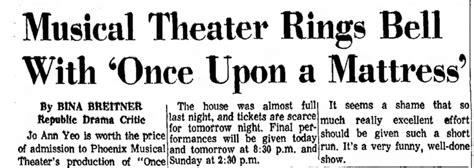 Once Upon A Mattress Lyrics by Musical Theater Theater An Eccentric
