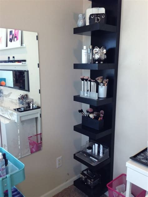 ikea bedroom shelves beauty room update aka my ikea collection lack shelf