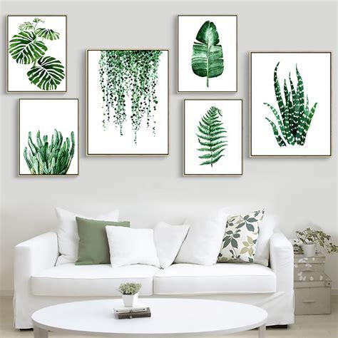 Plant Print Wall