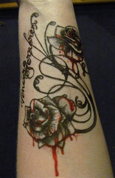 bleeding black rose tattoo the gallery for gt bleeding