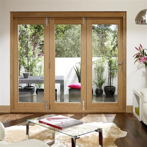 la porte vista oak folding patio doors fully decorated