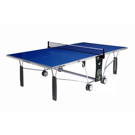 cornilleau outdoor sport 250m rollaway table tennis table